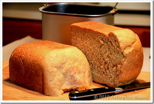 breadmaker whole wheat bread