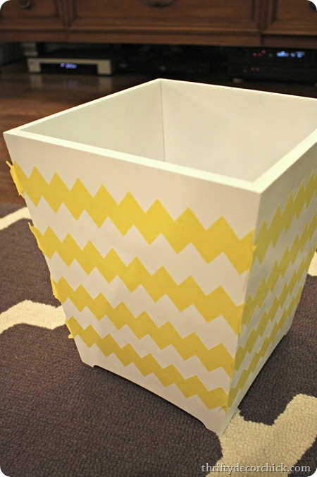 chevron-painter-s-tape-taped-on-wastebasket