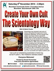 Create Your Own Cult - The Scientology Way 8th November 2014