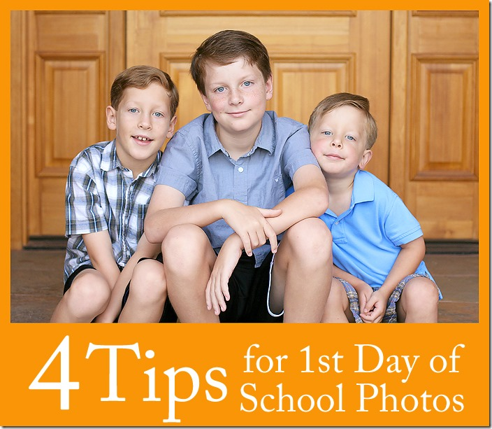 Tips for Back to School First Day of School Photos
