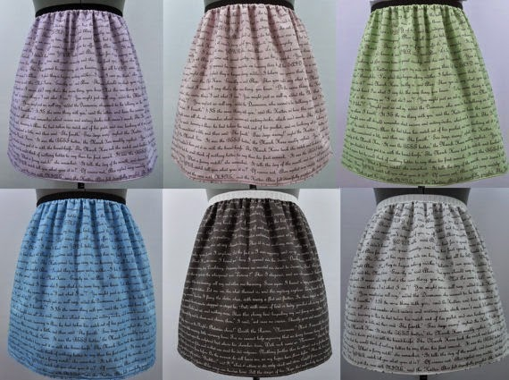 Customized Text Skirts from Nerd Alert Creations