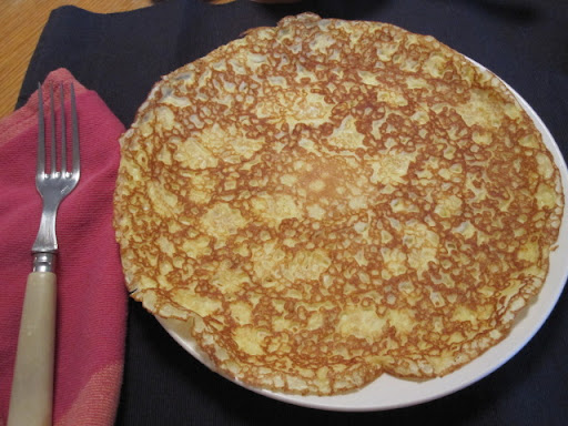 Cooking at a higher heat produces these lacy-looking pancakes.