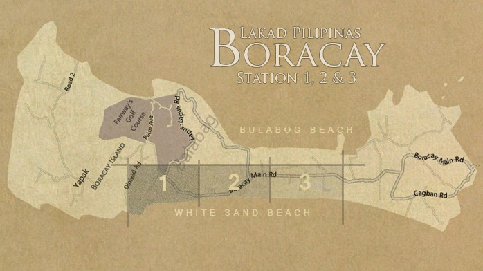 Boracay Station 1 2 3 Map