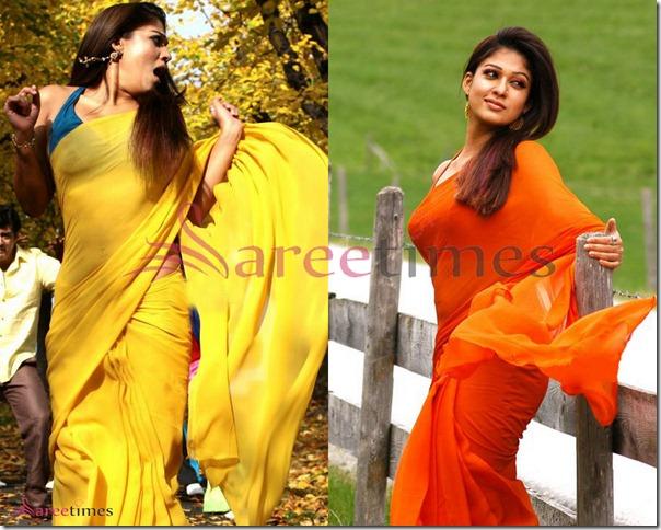Nayanathara_Plain_Designer_Saree