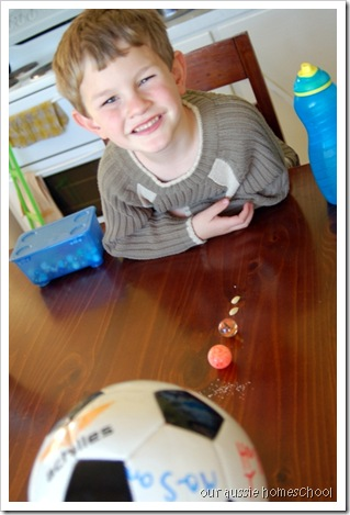 Model Solar System ~ Our Aussie Homeschool