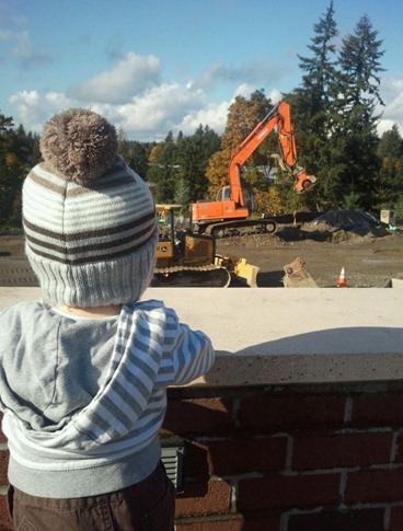 rowan staring at construction