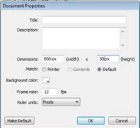 Mengatur lebar dan panjang document