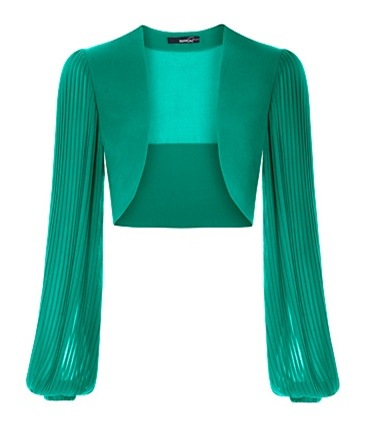 Pleated Sleeves Bolero4