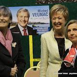 L'ex première dame Geneviève Letamendia (g) en soutien