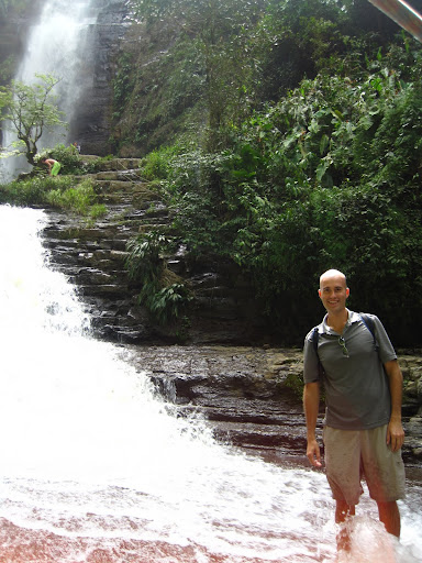 Erik at the Juan Curi waterfalls