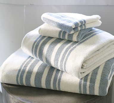 Fill your home with these beachy striped towels. (potterybarn.com)