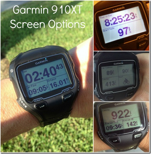 Garmin 910XT Screens