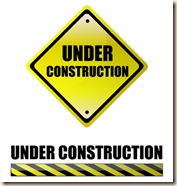 Under construction yellow