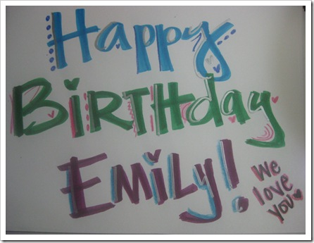 happy birthday emily. Yesterday was my mother-in-laws birthday!