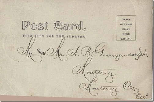 Adolph Gunzendorfer 1905 Postcard