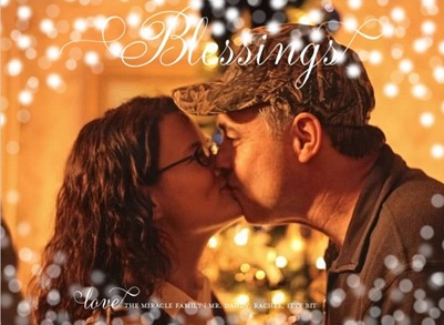 scripted blessings religious Christmas card