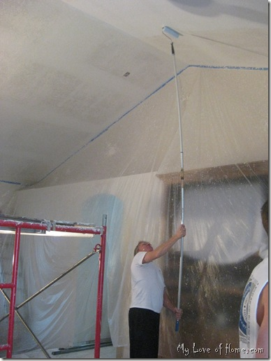 Painting vaulted ceiling