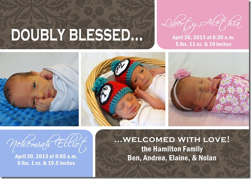 twins birth announcement jpg