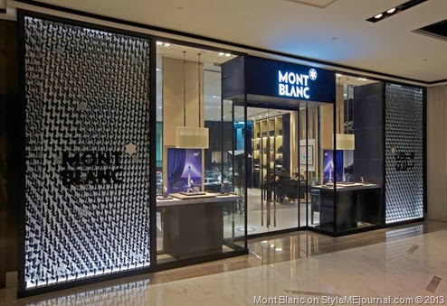 Montblanc boutique in The Galleria features the new Montblanc façade recently launched this year