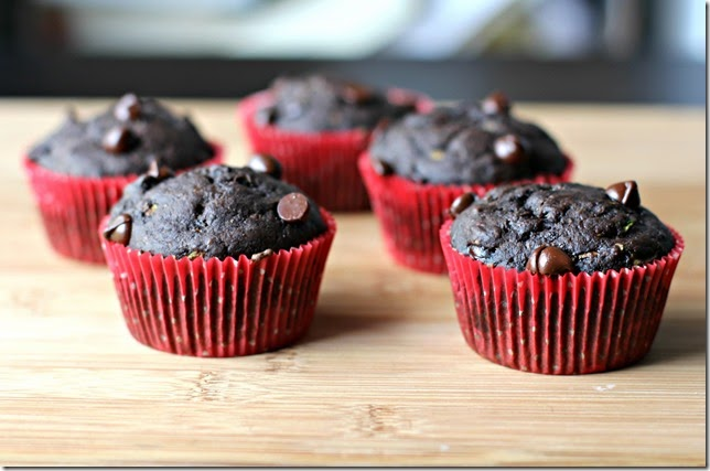 Chocolate Zucchini Muffins2