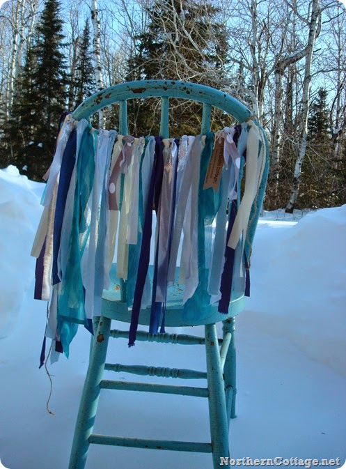 Frozen Chair Garland in the icy breeze {NorthernCottage}