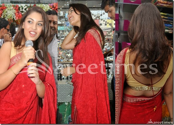 Richa_Gangopadhyay_Red_Embroidery_Saree