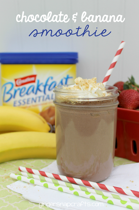 Chocolate & Banana Smoothie at GingerSnapCrafts.com #breakfastessentials #pmedia #ad_thumb[2]