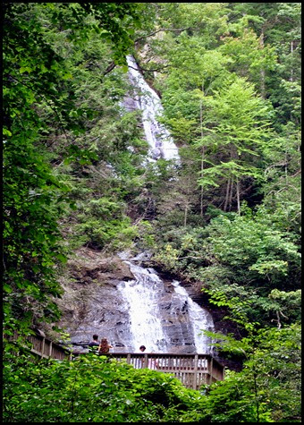 25f3 - Anna Ruby Falls Trail - Taller double falls on the left