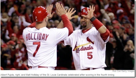 pujols and holliday