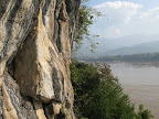 View from climbing in Laos
