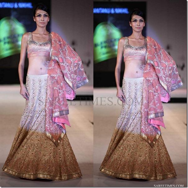 shantanu nikhil_pink_brown_lehenga