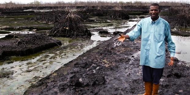 Oil spill in the Niger Delta. This spill was far worse than Shell previously admitted, it has been revealed. Photo: Amnesty International