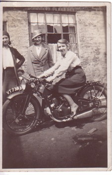 May (middle) Daisy on bike