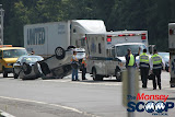 Overturned Vehicle On NYS Thruway  Near Toll Plaza (Moshe Lichtenstein) - IMG_5788.JPG