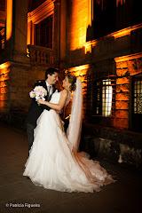 Foto do casamento de Priscila e Felipe. Parque Lage, Rio de Janeiro, RJ.