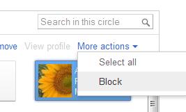 block a person