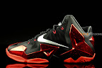 nike lebron 11 gr black red 1 05 New Photos // Nike LeBron XI Miami Heat (616175 001)