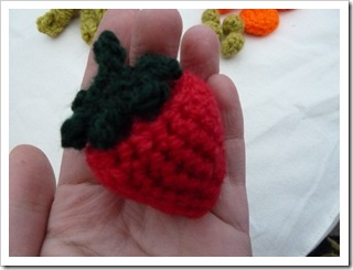 Crochet fruit and veg
