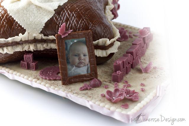 rustikk dåpskake gammelrosa jente dåp IMG_6378