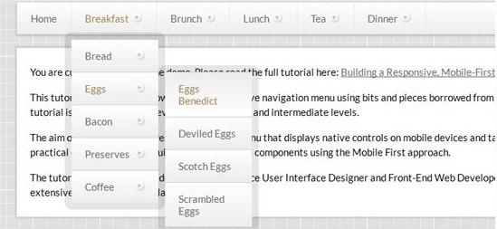 14 tutoriales para crear menús con CSS y jQuery 12