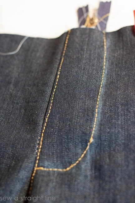 zipper fly jeans sew along sew a straight line-19