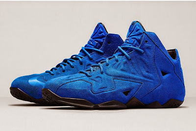 nike lebron 11 nsw sportswear ext blue suede 5 02 Nike LeBron XI EXT Blue Suede Drops on April 10th for $200