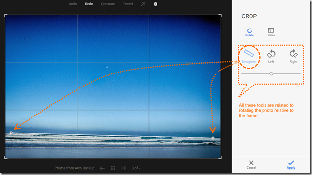 Adjustment in Google+Photo