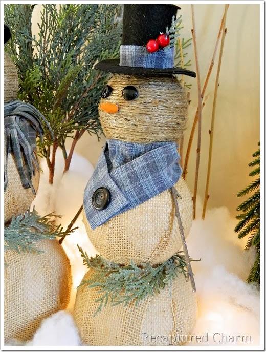 burlap & twine snowmen40