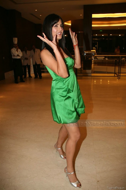 Katrina Kaif Beautiful Photos in Short Green Dress 5