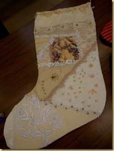 Cream stocking Ineke