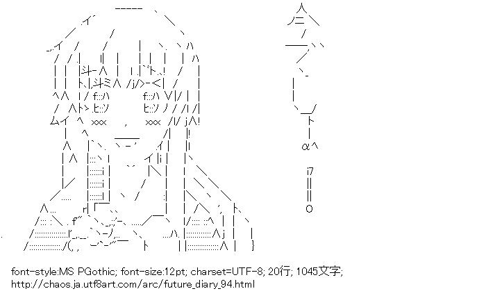 [AA]我妻由乃 今でしょ! (未来日記)