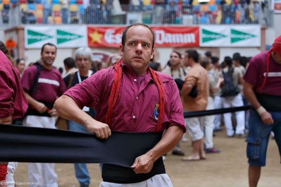 Castellers de Lleida. XXIVè Concurs de Castells de Tarragona. Tarraco Arena Plaça. Tarragona, Tarragonès, Tarragona