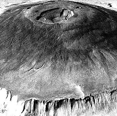 Monte Olympus visto pela sonda Mariner