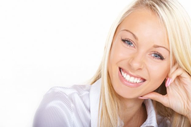 smiling white teeth face